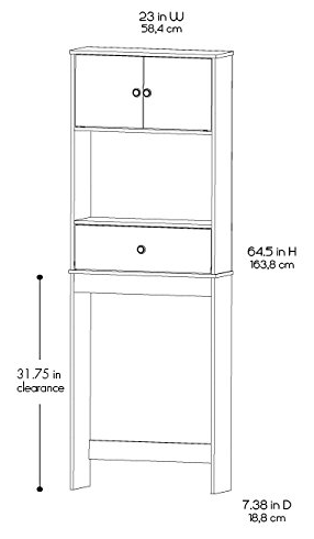 Width and height can come into play if you're attempting to bring this into a small bathroom or minimal toilet space. etagere ...