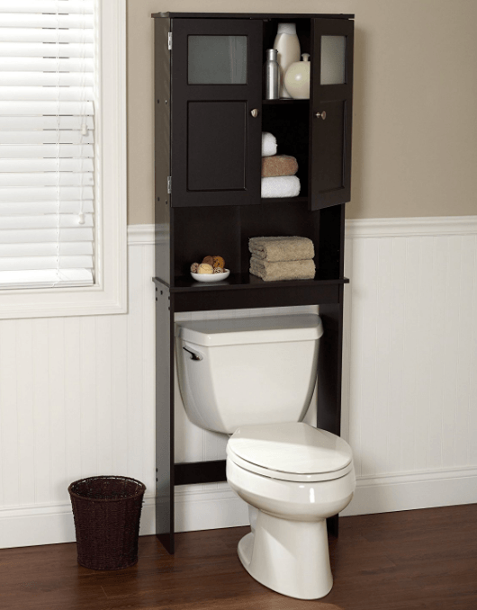10 Best Over The Toilet Storage Options In 2020 Toiletops