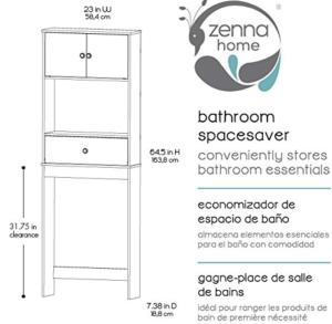 Zenna Home Bathroom Spacesaver size chart