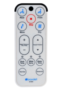 brondell-s1000-review remote-pic heated toilet seat bidet models
