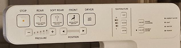 Toto C100 Washlet remote control