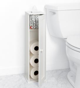 zenna-home-toilet-tissue-cabinet extra toilet paper holder