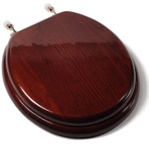 comfort seats mahogany round toilet seat