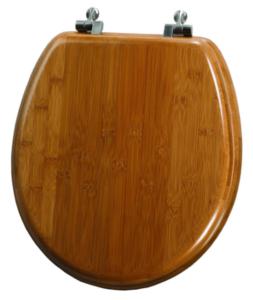 Mayfair bamboo round toilet seat