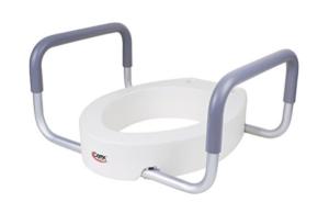 raised toilet seats with handles display