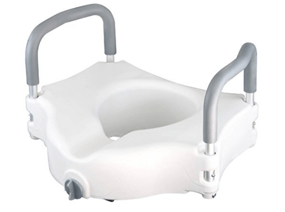 raised toilet seats with arms 654