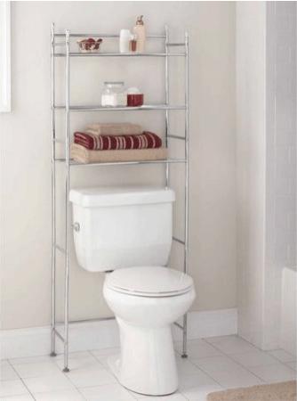 the best over the toilet storage options. Black Bedroom Furniture Sets. Home Design Ideas